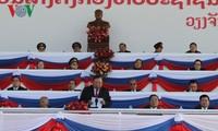 Meeting en l'honneur du 70e anniversaire de la fondation de l'Armée populaire du Laos