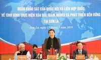 Tong Thi Phong supervise la réduction de la pauvreté à Son La