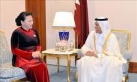 Entrevue entre Nguyên Thi Kim Ngân et Ahmad Bin Abdullah Al Mahmoud