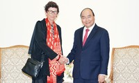 L'ambassadrice norvégienne reçue par Nguyên Xuân Phuc