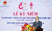 Nguyên Xuân Phuc au 60e anniversaire de l'Académie nationale de l'administration publique