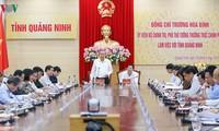 Truong Hoa Binh en déplacement à Quang Ninh