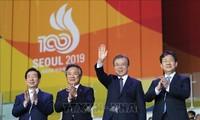 Moon réaffirme sa volonté de co-organiser les Jeux olympiques 2032 avec Pyongyang