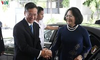 Dang Thi Ngoc Thinh rend visite à l'ambassade du Vietnam en Indonésie
