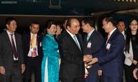 Nguyên Xuân Phuc arrive à Bangkok pour assister au 35e sommet de l'ASEAN