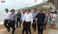 Prévention du typhon Nakri: Trinh Dinh Dung inspecte les travaux