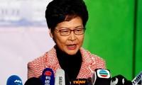 """Hongkong: Le président Xi Jinping assure Carrie Lam de son """"soutien indéfectible"""""""