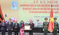 Nguyên Xuân Phuc au 70e anniversaire de la province de Vinh Phuc