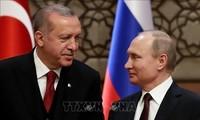 Vladimir Poutine et Recep Tayyip Erdogan se sont entretenus par téléphone