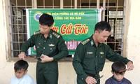 Les gardes-frontières accompagnent les enfants défavorisés