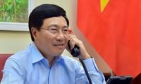 Conversation téléphonique entre Pham Binh Minh et Luigi Di Maio