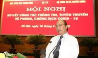 Nguyên Xuân Phuc salue le travail des médias dans la lutte anti-Covid-19