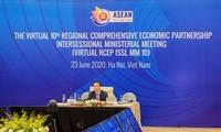 ASEAN : Réunion en ligne sur le Partenariat économique régional  global