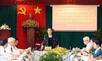 Nguyên Thi Kim Ngân travaille avec les autorités de Binh Phuoc