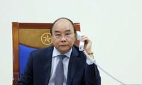 Entretien téléphonique Nguyên Xuân Phuc-Abe Shinzo