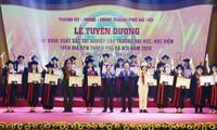 Cérémonie en l'honneur d'étudiants exceptionnels