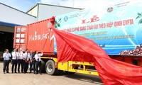 Gia Lai exporte le premier lot de café en Europe après l'EVFTA