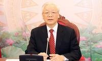 Entretien téléphonique Nguyên Phu Trong – Xi Jinping