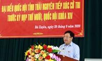 Pham Binh Minh rencontre les électeurs de Thai Nguyên