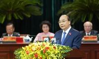 Nguyên Xuân Phuc au 11e congrès de l'organisation du PCV pour Hô Chi Minh-ville