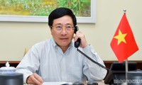 Entretien téléphonique entre Pham Binh Minh et Tony Blair