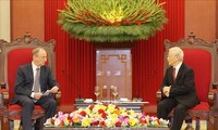 Nguyên Phu Trong reçoit le secrétaire général du Conseil de sécurité de la Fédération de Russie