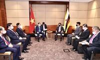 Entretien entre Pham Minh Chinh et le sultan du Brunei