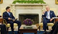 Joe Biden reçoit le président sud-coréen Moon Jae-in