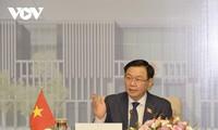 Le président de l'Assemblée nationale s'entretient avec son homologue brunéien