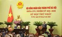 Ouverture de la première session du Conseil populaire municipal de Hanoï, mandat 2021-2026
