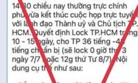 Covid-19: confinement de 10 à 15 jours pour Hô Chi Minh-Ville, fausse information