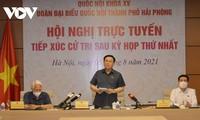 Rencontre virtuelle entre Vuong Dinh Huê et l'électorat de Hai Phong