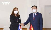 Vuong Dinh Huê rencontre des dirigeants parlementaires internationaux