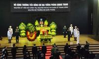 Les funérailles de l'ancien ministre de la Défense Phùng Quang Thanh