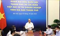 Nguyên Xuân Phuc rencontre des chefs d'entreprises de Hô Chi Minh-ville