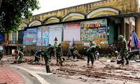 В разных районах Северного Вьетнама ликвидируют последствия дождевых паводков