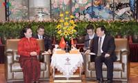 Председатель НС Вьетнама приняла Секретаря партийного комитета провинции Цзянсу