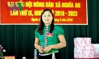 면위원회의 여성협회의 활발한 르엉 티 환 (Lường Thị Hoàn) 회장