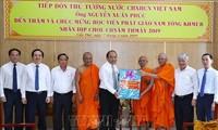 Thủ tướng Nguyễn Xuân Phúc thăm, chúc Tết Chôl Chnăm Thmây tại Học viện Phật giáo Nam tông Khmer