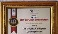Vietjet Thailand được bình chọn là Thương hiệu tuyển dụng tốt nhất châu Á