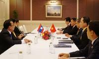 Chủ nhiệm Ủy ban Đối ngoại Nguyễn Văn Giàu tiếp lãnh đạo cấp cao Hàn Quốc và Lào tham dự AIPA 40