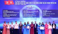 Hà Nội trao giải báo chí về xây dựng Đảng và phát triển văn hoá lần thứ II  năm 2019