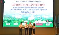 """Trao giải Cuộc thi trắc nghiệm """"Tìm hiểu 90 năm lịch sử vẻ vang của Đảng Cộng sản Việt Nam"""""""