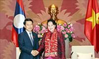 Chủ tịch Quốc hội Nguyễn Thị Kim Ngân tiếp Bộ trưởng Bộ Ngoại giao nước CHDCND Lào