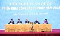 Hội nghị toàn quốc triển khai công tác tư pháp năm 2020