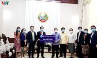 Doanh nghiệp Việt Nam ủng hộ Lào 30.000 USD chống dịch