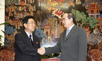 Deputi PM Vietnam Nguyen Thien Nhan menerima  Menteri Pendidikan Tinggi RDR Korea