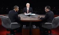 Pemilihan umum presiden Amerika Serikat-2012: Pada ujung perdebatan terakhir, Presiden Barack Obama untuk sementara unggul.