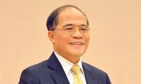Ketua MNVN Nguyen Sinh Hung berkunjung di Thailand.