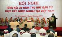Konferensi evalusasi  atas masa 25 tahun penyerapan investasi  asing  langsung di Vietnam